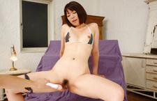 MILF Izumi Manaka Fucked With A Vibrator In Her Bikini