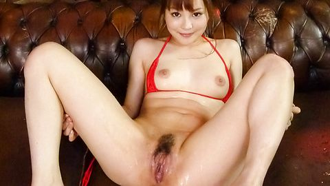 Hot asian insertion of a vibrator inside Maomi Nagasawa