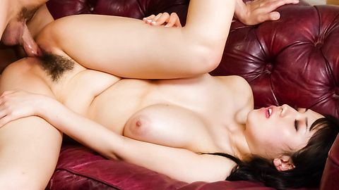 Oriental babe Azusa Nagasawa fucked from behind and spunk loaded