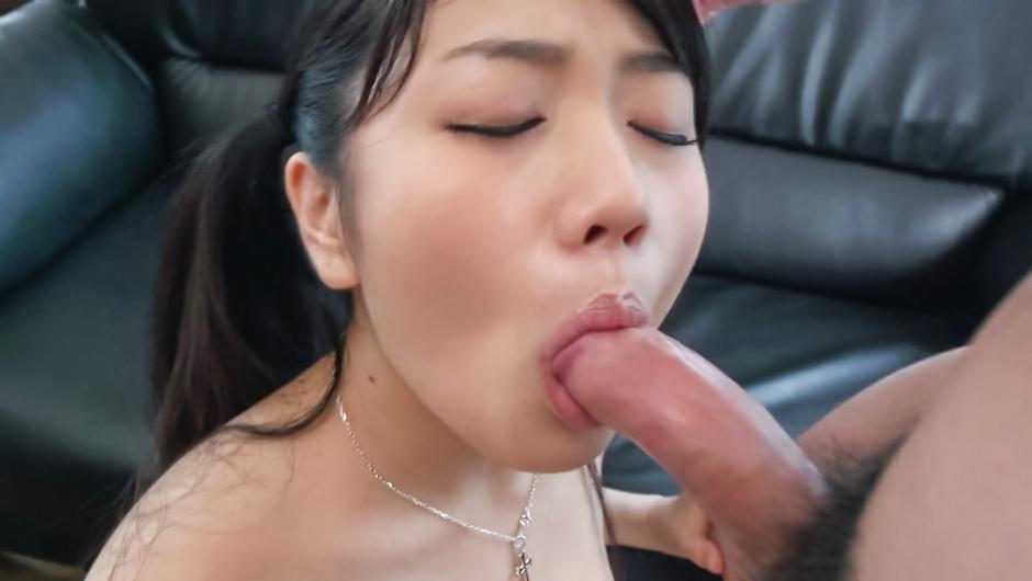 Slim beauty provides Asian blowjob on several cocks