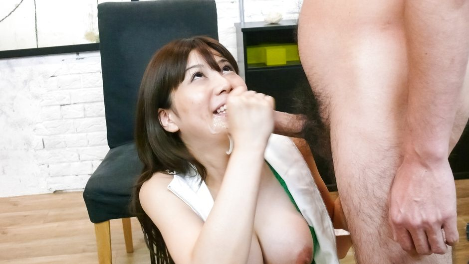 Everyone lines up for a blowjob from Karen Natsuhara