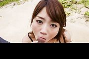 Outdoor Asian blowjob along sexy Mayuka Akimoto  Photo 7