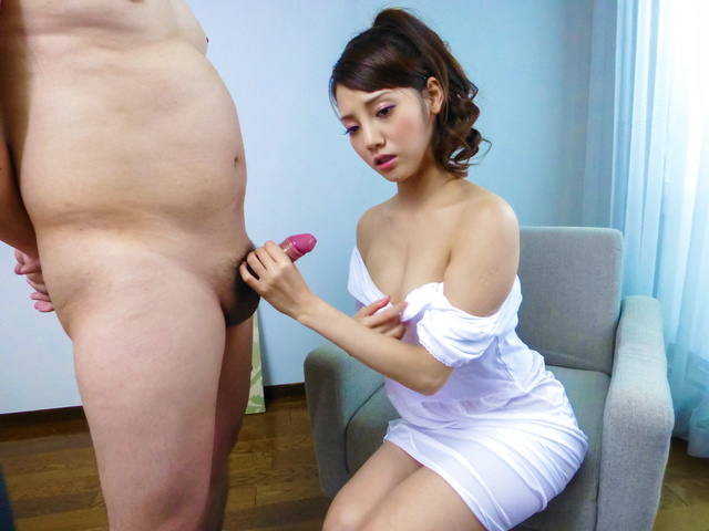 Hot Japanese blowjob with sexy Rei Mizuna  Photo 7
