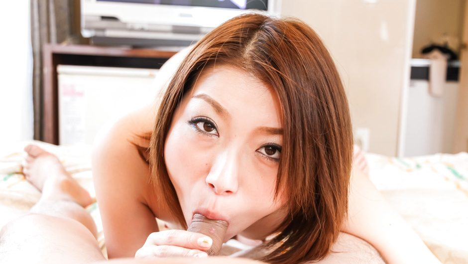 Hot asian POV blowjob video with amateur Kaoru