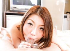 Kaoru milks him dry with a japanese blowjob
