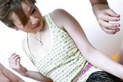 Sweet MILF Yukina Momose Takes On Two Guys Photo 1