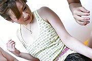 MILF Yukina Momose Gets Her Pantyhose  To Screw Photo 1