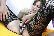 MILF Yukina Momose Gets Her Pantyhose  To Screw Photo 4