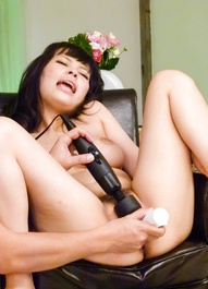 Kyouko Maki is nailed from behind with fingers and vibrators