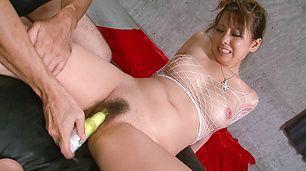 Nice tits hot gal Asuka sexy vibrator action