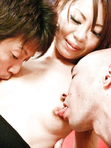 Stunning and sexy Asian babe pussy fondled and double penetrated Photo 11