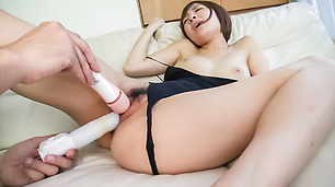 Rough fuck with toys for Asian lingerie babe Hikaru Shiina