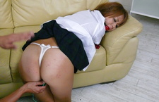 Karen Yuuki gets fucked with vibrators in asian schoolgirl porn