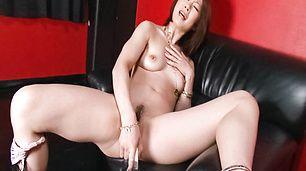 MILF Rio Kagawa Stuffs A Vibrator Deep In Her Snatch