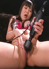 Nene Masaki Asian gets many vibrators in and on asshole and slit