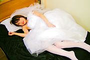 Miku Morimoto Fucked By Two In Her Wedding Dress Photo 2