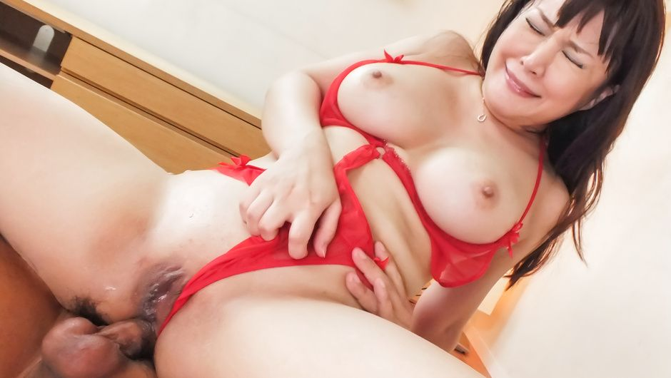 Needy asian milf having hardcore threesome sex