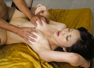 Asian 69 Cum - Moe Yoshikawa Asian washes her juicy hooters and hairy love box