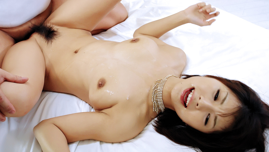 Azumi in black lingerie takes on two horny cocks and gobbles them both - Azumi Harusaki