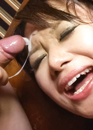 Haruka Uchiyama Asian has vagina licked and sperm on her face