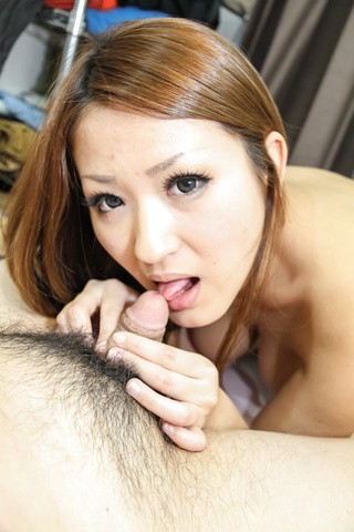 Asian amateur Akiho provide excellent blowjob on cam  Photo 3