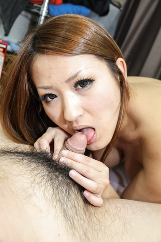 Asian amateur Akiho provide excellent blowjob on cam  Photo 4