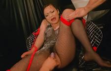 Bound mature woman huge syringe fills her ass Yuu Haruka