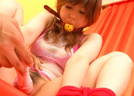 Miku Airi Asian with tied hands and ball in mouth is teased a lot