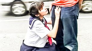 Japanese in uniform wants boner on street