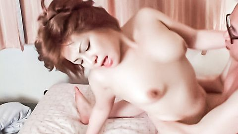 Japanese chick finger bang and fucked hard by a four-eyed guy