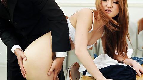 Asian schoolgirl making sure that she pass the test