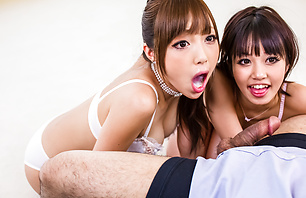 Two filthy brunettes Anri and...