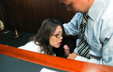 Office MILF Ibuki Sucks Dick At Work And Gets A Facial