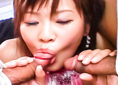 Haruka Ando ed with sex toys working her pussy