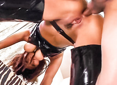 Ass and pussy vibrator action fucking creampie Yoshiki Aogiri