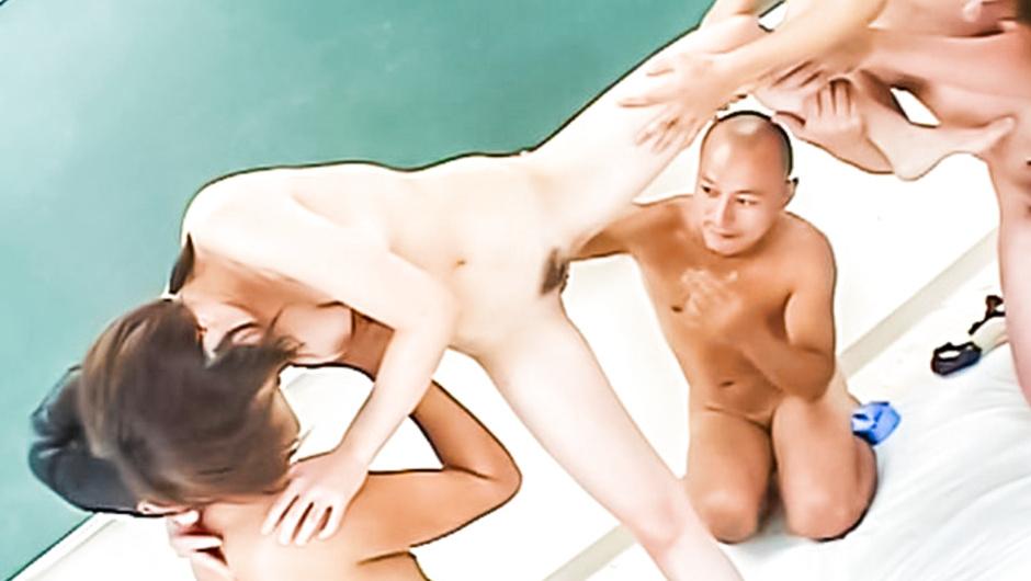 Swimsuit schoolgirl gang bang creampie Ichiko