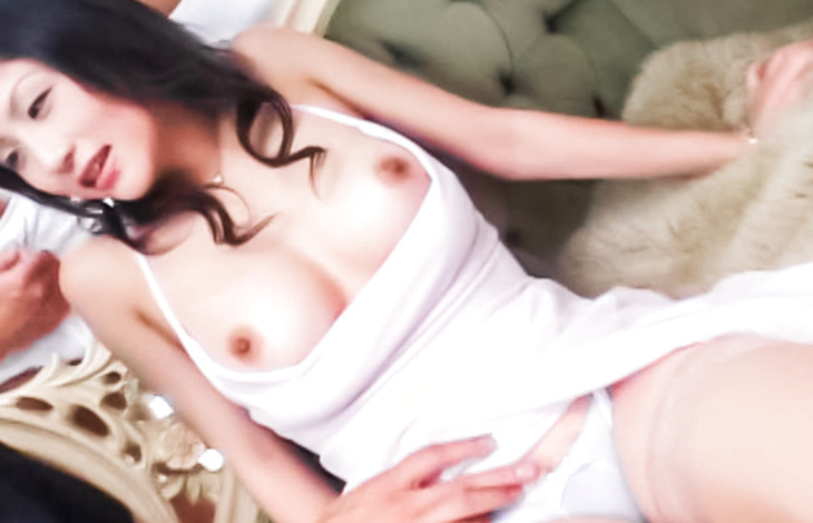 Smokin' sexy Ren Kikukawa shows hot titties japanese tits, japanese nudes, naked asian girls