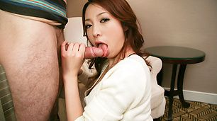 Cute and dirty Kanako cum blasted after giving a sloppy blowjob